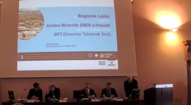 Europrogetto DTT, la Regione candida l'Enea di Frascati