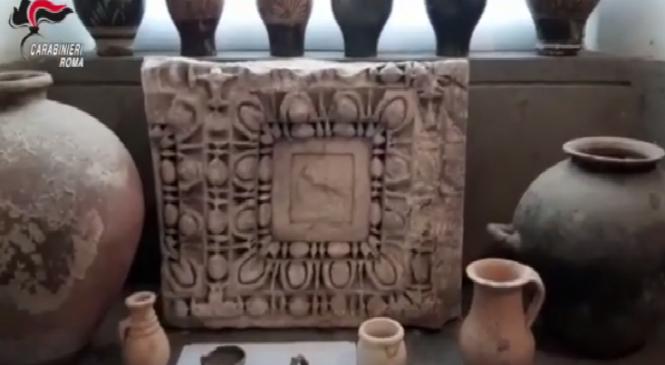Sequestrati reperti archeologici a Trevignano