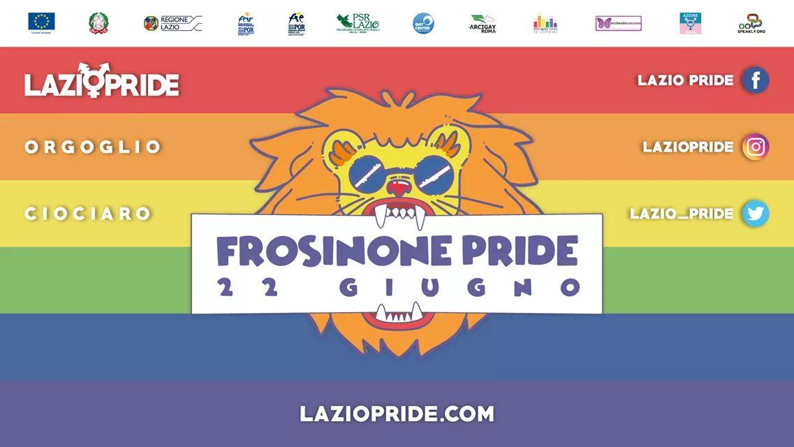 Lazio Pride. Appuntamento a Frosinone il 22 giugno