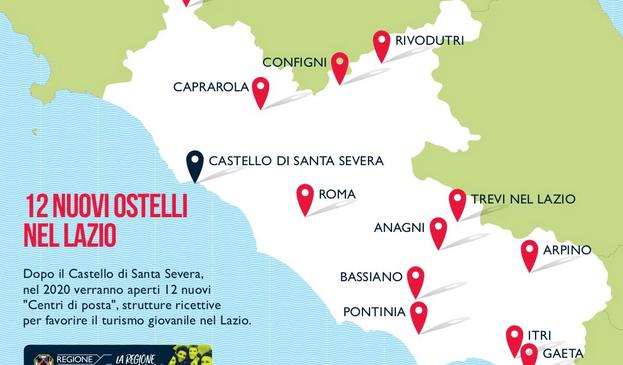 Entro il 2020 il Lazio avrà dodici nuovi ostelli