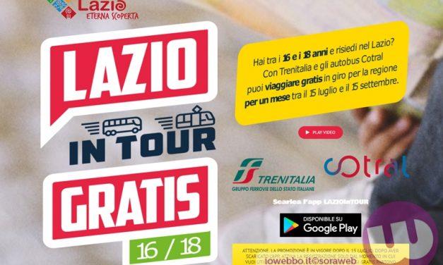 E tornata Lazio in Tour, la card per viaggiare gratis su bus e treni regionali